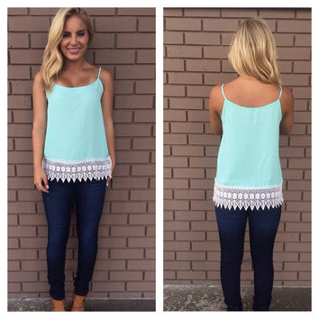 Turn Over a New Leaf Top - Mint
