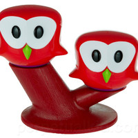 PERCHED OWL SALT & PEPPER SHAKERS