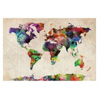 Urban Watercolor Unframed Wall Canvas