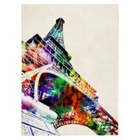 Eiffel Tower Unframed Wall Canvas