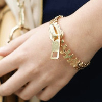 Fashion Zipper Statement Bracelet