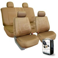 FH-PU005114 Exquisite Leather Car Seat Covers, Airbag compatible and Rear Split