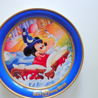Vintage Walt Disney Fantasia Metal Tin