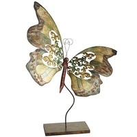 Capiz Shell & Metal Butterfly