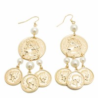 Coin N Pearl Earrings