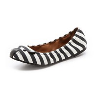 Mouse Jail Stripe Elastic Flats