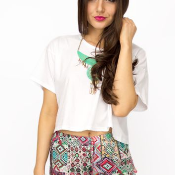 Float On Boxy Crop Top