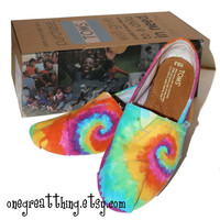 Tie Dye TOMS Shoes Womens Sizes hand dyed