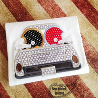 Football Helmet Vintage Truck Custom Tee Shirt - Customizable -  Infant to Youth