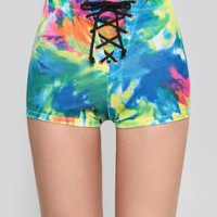 Prismatic Lace-Up Shorts