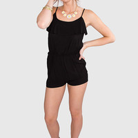 New Wave Playsuit - Black