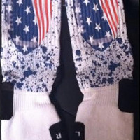 NY Giants Inspired Custom Nike Elites