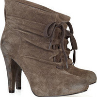 Discount ASH Gathered suede ankle boots | THE OUTNET