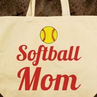 softball mom tote bag - glamfoxx.com - Skreened T-shirts, Organic Shirts, Hoodies, Kids Tees, Baby One-Pieces and Tote Bags