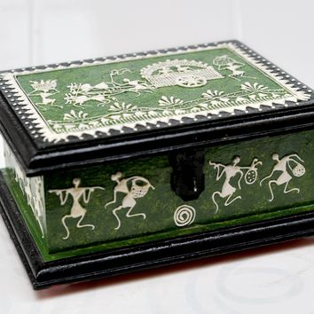 Warli Art-Gift cum Jewellery Box