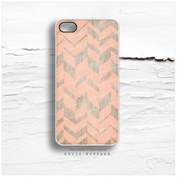 iPhone 5C Case Wood Print, iPhone 5s Case Chevron, iPhone 4 Case, iPhone 4s Case, Geometric iPhone Case, Coral Chevron iPhone Cover I121