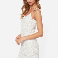 Jack by BB Dakota Dax Ivory Lace Midi Dress