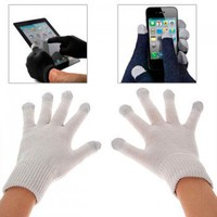 Durable Five Fingers Electricity Melted Screen Touch Screen Gloves for iPad, TPhone, Mobile Phones & All Touch Screen Devices - Grey-ipad 3-
