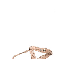 Isabel Marant | Brina Braided Calfskin Leather Sandals in Nude www.FORWARDbyelysewalker.com