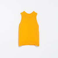 ROUND NECK SLEEVELESS JUMPER