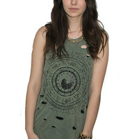 Zodiac Sign Distressed Tank