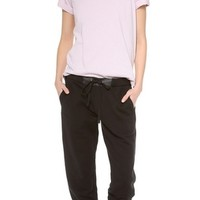 Sweatpants with Leather Trim
