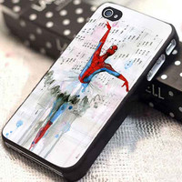 spiderman ballet customized for iphone 4/4s/5/5s/5c, samsung galaxy s3/s4, and ipod touch 4/5