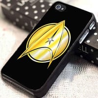 Star Trek Logo Custom Silicone customized for iphone 4/4s/5/5s/5c, samsung galaxy s3/s4, and ipod touch 4/5