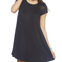 Black Short Sleeve Dress | Wet Seal