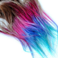 Dip Dyed Tips  Human Hair Extensions  Boho by MissVioletLace