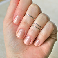 Silver Midi Rings(Set of 2)