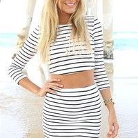 Pin Stripe Tube Skirt | SABO SKIRT