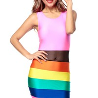 Color Me A Rainbow Body Con Dress @ Cicihot sexy dresses,sexy dress,prom dress,summer dress,spring dress,prom gowns,teens dresses,sexy party wear,ball dresses