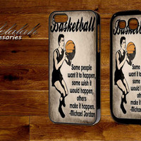 Vintage Basketball Art Michael Jordan Quote For iPhone 4/5/5c/5s,iPod 4/5,Samsung S3/S4, s3/S4 Mini