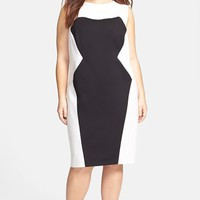 ABS by Allen Schwartz Colorblock Sheath Dress (Plus Size) | Nordstrom