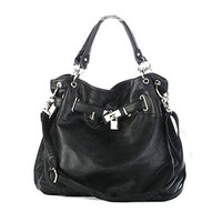 Metal Hardware Casual Cross Body Shoulder Bag Purse Handbag