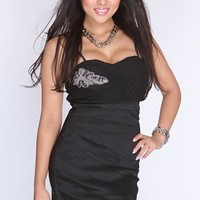 Black Spaghetti Straps Pleated Beaded Detailing Fancy Dress @ Amiclubwear sexy dresses,sexy dress,prom dress,summer dress,spring dress,prom gowns,teens dresses,sexy party wear,women's cocktail dresses,ball dresses,sun dresses,trendy dresses,sweater dresse