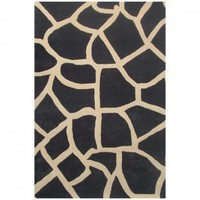 Acura Rugs Contempo Black / Beige Contemporary Rug - GIRAFFE BLK - Black and Gray Rugs - Area Rugs by Color - Area Rugs