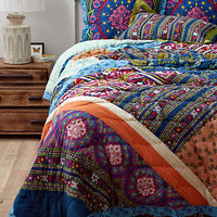 Wildfield Quilt by Anthropologie Purple Motif
