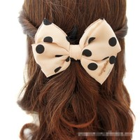 Easygoby Boutique Stylish Women Lady Girls Fashion Elegent Polka Dot Bowknot Hairpin Accessories Hair Clips