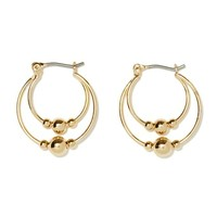On The Double Hoop Earrings