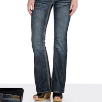 Hydraulic ® Stud and faux leather detail bootcut Jeans