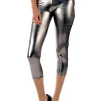 The Classic Brand Womens Fun Metallic Leggings