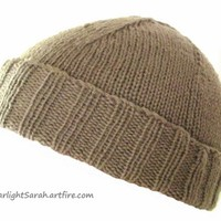 WWII Knitted Cap Reproduction Hand Knitted from Original WW2 Pattern