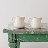 Vintage French Ironstone Creamers