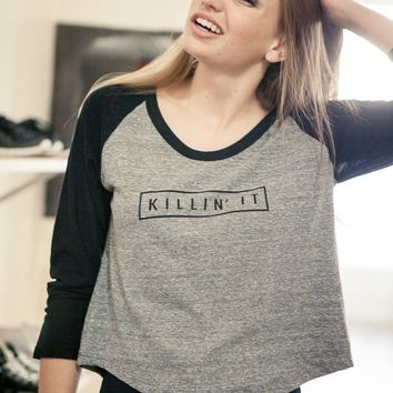 BARBARA KILLIN IT RAGLAN TOP