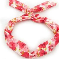 Cute Rabbit Ear Headband Hair Tie Scarf Head Band Accessories Ponytail Holder Free Color Hairacc016