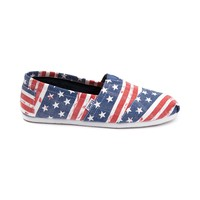 Womens TOMS Classic American Flag Casual Shoe