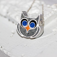 Owl Necklace -  Bird Jewelry, Eco Friendly, Owl Jewelry, Cute Owl Necklace