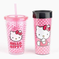 Hello Kitty Travel Mug and Tumbler Set: Dots